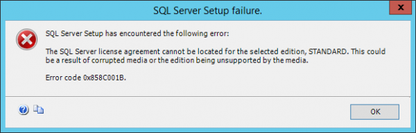 The Sql Server License Agreement Cannot Be Located Microsoft